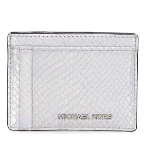 Michael Kors Silver Rainbow Embossed Card Case